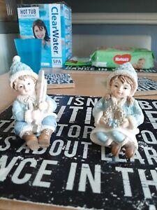 Ceramic matching boy and girl beautiful bnwt