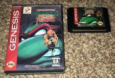 TEENAGE MUTANT NINJA TURTLES: TOURNAMENT FIGHTERS Sega Genesis *WITH BOX* tmnt