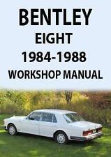 BENTLEY EIGHT WORKSHOP MANUAL 1984-1988