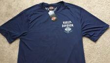 Harley Davidson moisture wicking Dark blue Shirt Nwt Men's XXXL