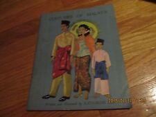 1963 COSTUMES OF MALAYA BY KATHARINE SIM Published Donald Moore Singapore