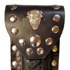 Buck 110 Leather Knife Case - Buffalo Head