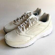 418682882037 Womens BROOKS DYAD WALKER Ivory Off White Walking Shoes SIZE 9 WIDE