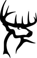 Deer Buck antlers vinyl sticker decal U Choose Size & Color