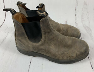 Mens Blundstone Leather Boots Brown Size 12 Slip On Shoes