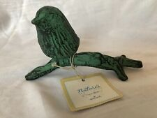 Marjolein Bastin Hallmark Natures Sketchbook Cast Iron Bird Perched Branch