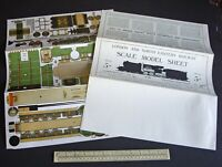 1920s/50s Vintage LocoPubCo Flying Scotsman 1924 Locomotion 1825. Cut-Out Kit.