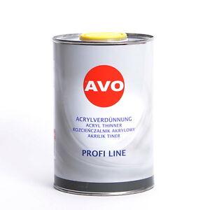 Acrylverdünnung 2K Verdünnung 1 Liter für Acryllack Autolack und Füller A050110V