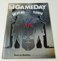 NFL GameDay Magazine Program 1987 Bears vs. Redskins Playoffs NFC