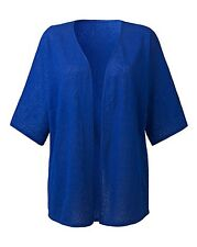 Simply Label Be Women's Jersey Jacquard Kimono Size 12/14 BNWT Cobalt Blue