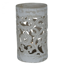 New Candle Holder Patterned White Lantern Small