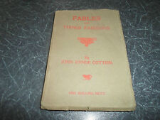RARE ANTIQUE BOOK Fables And Things Fabous John Hynde Cotton 1905