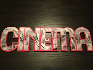 Lenticular Cinema Wall Sign - Movie Room Style MDF & Plastic Cinema