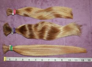 HUMAN HAIR HAIRCUT 11-12.5 IN 3.6oz Total CHILDS BLONDE BUNDLE PONYTAILS A74