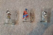 Vintage Disney Minnie Mouse & Goofy Glass Mugs &  Mickey Glassware Collectible