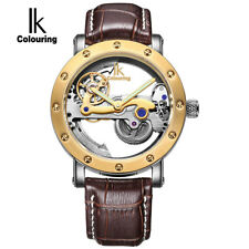 IK colouring New Stainless Steel Skeleton Automatic Mechanical Full Steel Men's