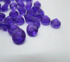 1000 Purple Diamond Confetti 8mm Wedding Table Scatter