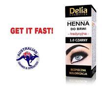 DELIA HENNA EYEBROW PROFESSIONAL TINT DYE BLACK MAKEUP EYELINER LIPSTICK LASH
