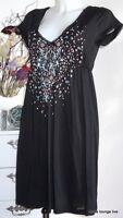 Vive Maria NEU Kleid Night of Naima Tunika Dress S 36 black schwarz Baumwolle