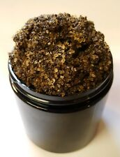 COFFEE SUGAR Face and Body Scrub With Black African Soap & Tea Tree Oil 4 oz