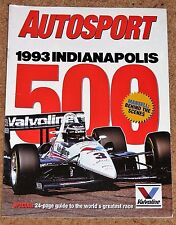 Autosport 1993 INDY 500 GUIDE - Mansell Behind the Scenes, Top 20 Drivers
