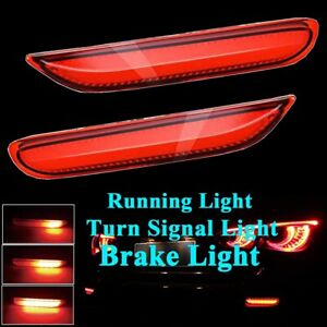 Red Lens LED w/Sequential Turn Signal Brake Lights For Infiniti Q50 QX Nissan