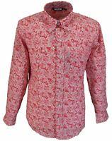 Relco rojo/blanco Pindot motivo Cachemira hombre modelo clásico diseño vintage