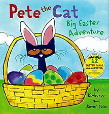 Pete the Cat: Big Easter Adventure New Children Book Hardcove Free Fast Shipping