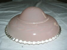 "Vintage Pink Ceiling Lamp Hanging 11"" Glass Shade"
