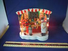 RARE Enesco Ye Olde Toy Stand Multi-Action/Lights Music Box MIB