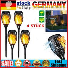 4stk Solarleuchte LED Garten Beleuchtung Solar Licht Lampe Fackel Leuchte Flamme