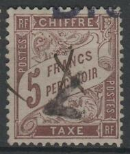"FRANCE STAMP TIMBRE TAXE N° 27 "" TYPE DUVAL 5F MARRON "" OBLITERE TTB  N770"