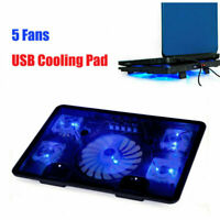 """For 14-15.6"""" PC Laptop Cooling Pad Laptop Cooler USB with 5 Fans Computer Stand"""
