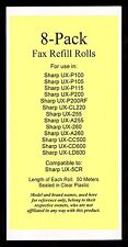 8-pack of UX-5CR Fax Refills for Sharp UX-255 UX-A255 UX-260 UX-A260 UX-CL220