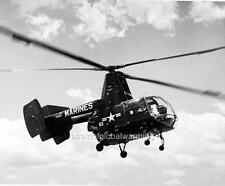 Photo. 1950s.  Marine HOK-1 Helicopter in Flight