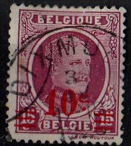 BELGIUM 1927 King Albert I /Mi:BE 224/ Scott#192 10c overprint STAMP