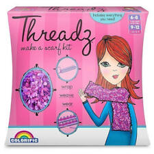 COLORIFIC Threadz Make A Scarf Kit DIY with Yarn, Hook, Needle & Loom 6-12y BNIB
