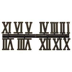 Zifferblatt Zahlen Kunststoff Wanduhr Zahlensatz Uhr Ziffern RÖMISCH SCHWARZ