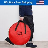 "25"" Wreath Storage Bag Doulbe Sleek Zipper Xmas Decoration Waterproof Container"