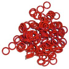 50pcs 13mm x 9mm x 2mm Red Silicone Gasket O Ring Seal Washers