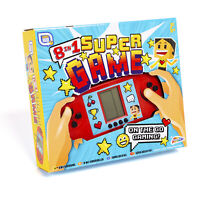 8 in 1 Super Handheld Game Machine - 8 Built in Games - Age 6+ Children's Fun