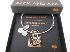 Alex and Ani Unbreakable Love Bangle Bracelet Rafaelian Silver New Tag Box Card