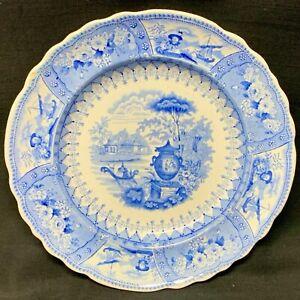 Blue Staffordshire Transferware Plate ~ CANOVA 1840