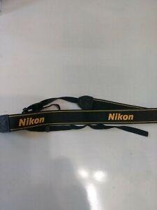 "Genuine Nikon AN-DC1 1.5"" Black/Yellow Neck/Shoulder Strap For SLR/DSLR"
