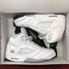 Nike Air Jordan Retro V White Metallic Silver SZ 10.5 136027 130 Black XI XII I