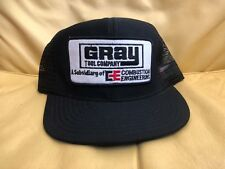 Nos Vintage 1980's Gray Tool Company Trucker Hat Mesh Snapback Cap Made in Usa