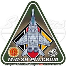 MIG-29 FULCRUM EAST GERMANY AirForce LSK Mikoyan-Gurevich DDR GDR Decal Sticker