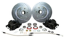 1960-72 CHEVY C10 TRUCK DELUXE FRONT DISC BRAKE WHEEL KIT, 6-LUG, BLACK