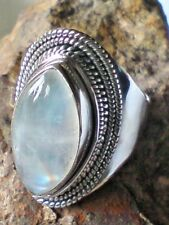 HANDCRAFTED STERLING SILVER MOONSTONE CABOCHON 33mm.x 25mm. RING UK.X £39.95 NWT