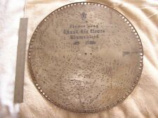 Antique Music Metal Disk Disc Flower Song Chant Des Fleurs Blumenlied